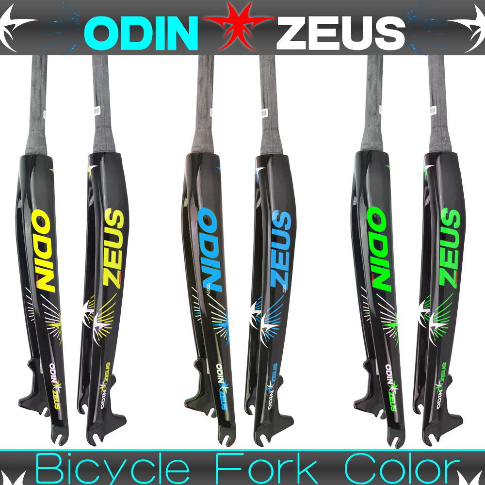 """Купить с кэшбэком ODINZEUS Neweat Superstrong Six color style 26""""/27.5""""/29""""Inch Mountain Bike Full Carbon Front Fork MTB Bicycle Disc Brake Fork"""