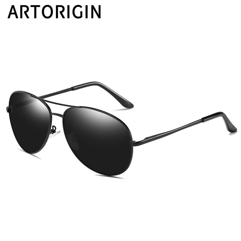 Vintage Aviation Sunglasses Men Spring Leg Premium Military Classic Sun Glasses Polarized 100% UV Protection 260103