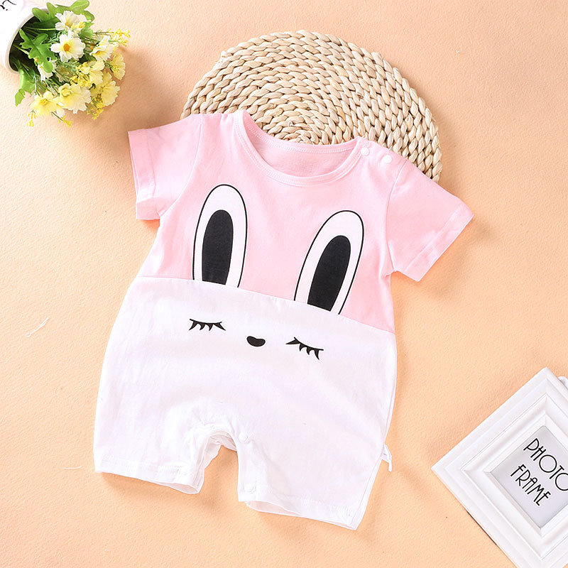 2018 cute Cartoon Baby Rompers cotton baby Girl clothes summer Kids Jumpsuit for 3-12month Short sleeve baby boys clothes mother nest 3sets lot wholesale autumn toddle girl long sleeve baby clothing one piece boys baby pajamas infant clothes rompers