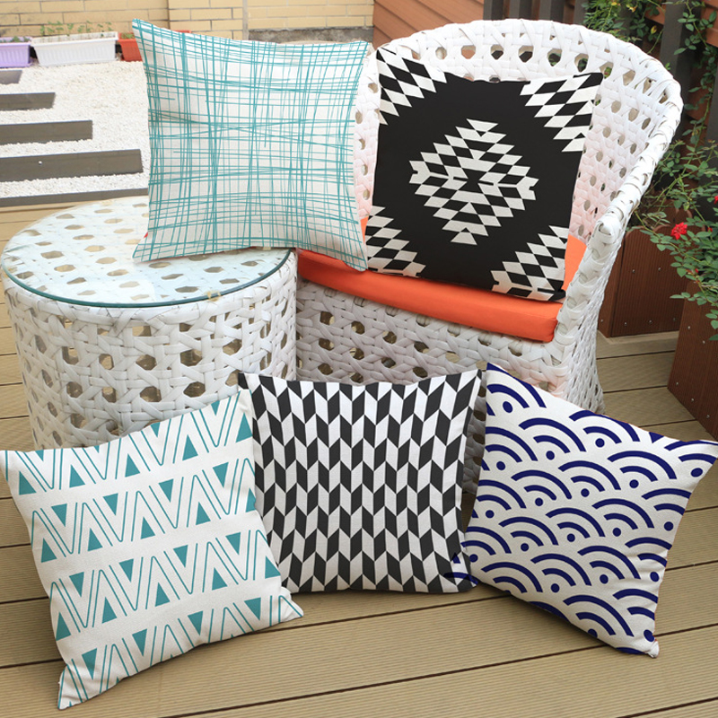 Scandinavian style Decorative Throw Pillows colorful geometric Cushions Home Decor American modern pattern Decorative Pillow