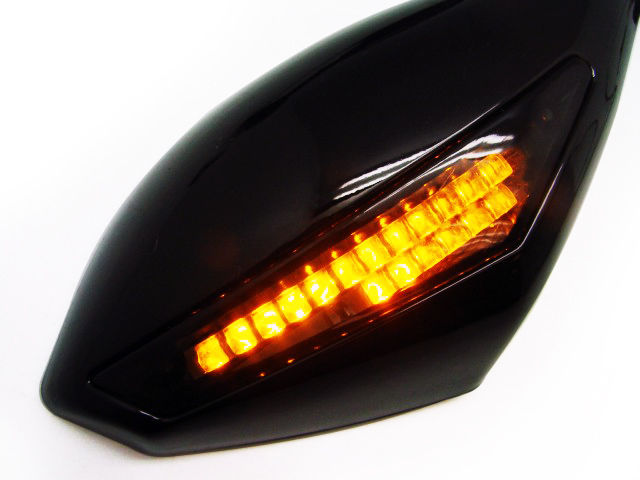 Universal Smoke swing freely modified mirror LED Turn signals intergrated mirrors For Yamaha FZ6/FZ6S FAZER 2007-2011