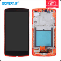 Red For LG Google Nexus 5 D820 D821 LCD Display Touch Screen With Digitizer Bezel Frame