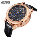 JEDIR Chronograph Mens Sports Brand Stop Watch Military Luxury leather watches waterproof fashion Relogio Masculino Montre Homme