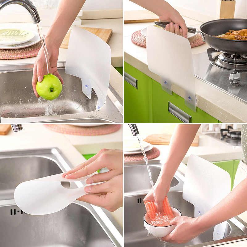 Креативная пластиковая непроницаемая вода брызговик присоска перегородка доска умывальник раковина доска Кухонные гаджеты вода и масло перегородка пластина