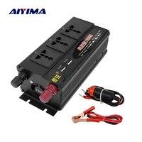 AIYIMA 1200W Pure Sine Wave Inverter DC12V/24V/48V To AC220V 50HZ Dual Digital Display Dual USB Switch Power Converter Booster
