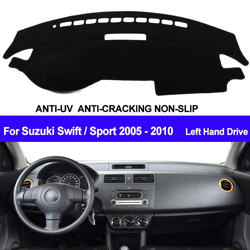 TAIJS Car Dashboard Cover Dash Mat Dash Board Pad Carpet Dashmat Anti-UV For Suzuki Swift Sport 2005 2006 2007 2008 2009 2010