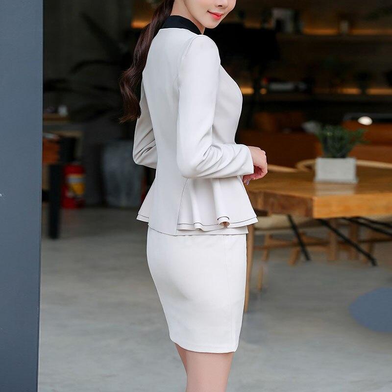 New Woman Fashion Full Sleeve V-Neck Spring Autumn Solid Slim Blazer Coat Ruffle Office Lady Elegant Grace Blazer Female 9862