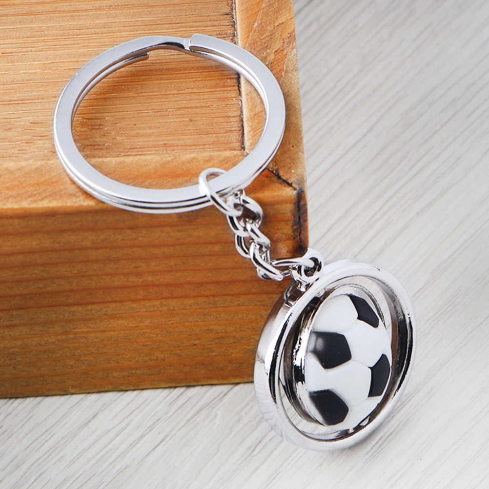 LLavero de bola de fútbol con llavero de Metal en 3D