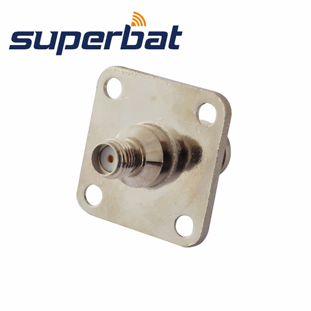 Superbat WiFi Adapter Connector SMA Female To TNC Jack Female 4 Hole Panel Mount Straight