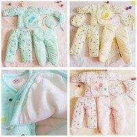 New hot seeling 5 PCS Bébé Coton Épais Vêtements Enfants Manteau pour L'extérieur chaud costumes pour bébé soins vêtements