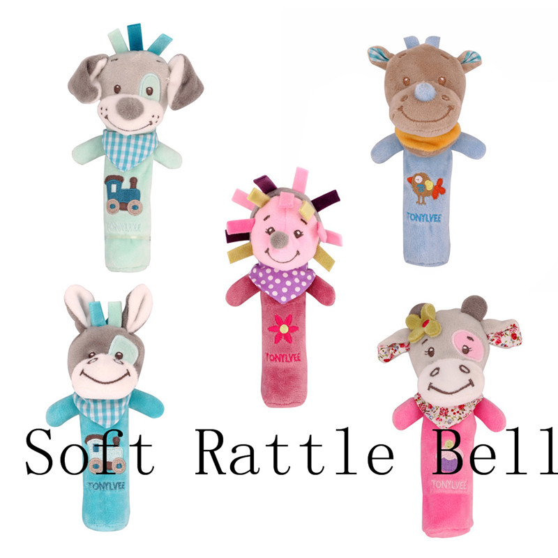 Funny Baby Kid Cartoon Animal Wooden Bell Musical Developmental Instrument Toys