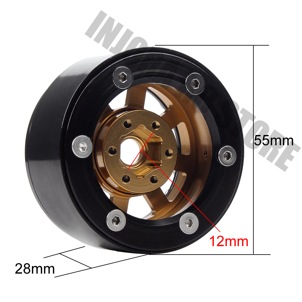 4PCS Metal 1.9 Inch Wheel Rim BEADLOCK for Axial SCX10 90046 D90 1/10 RC Crawler Wheel Hub-in Parts & Accessories from Toys & Hobbies    3