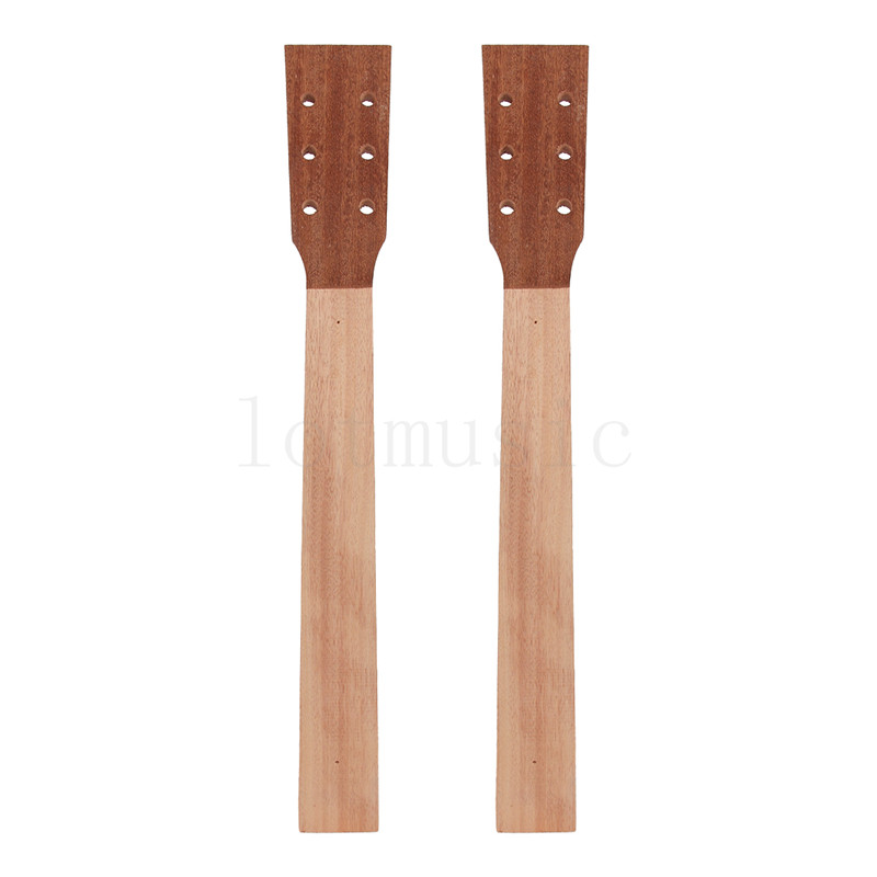 Acoustic Guitar Neck for Guitar Parts Replacement Luthier Repair Diy Unfinished Sapele Head Veneer Pack of 2 soprano ukulele neck for 21 inch ukelele uke hawaii guitar parts luthier diy sapele veneer pack of 5