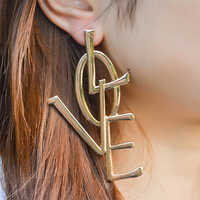 KMVEXO 2019 boucles d'oreilles pour femmes exagéré éthique Boho grand grand Long Leatter amour boucles d'oreilles Vintage déclaration bijoux