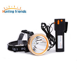 12pcs/lot Brand Hunting Friends High Power LED Headlamp Rechargeable Headlamp Waterproof Headlight Head Flashlight for Outdoor