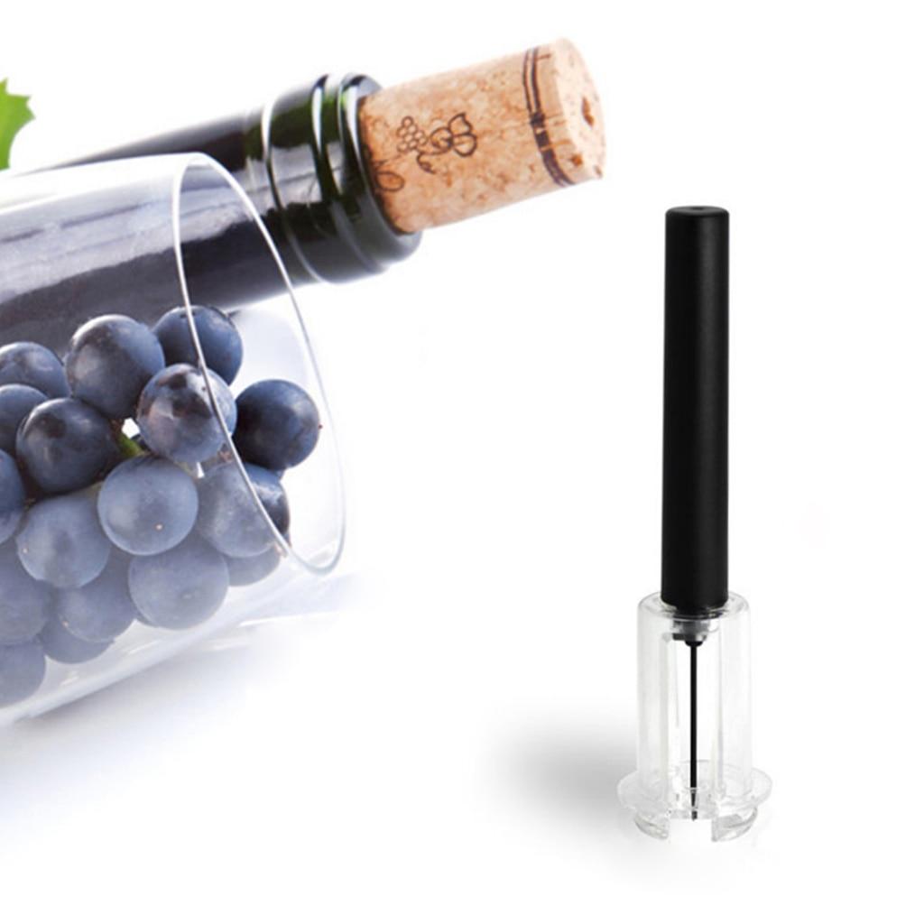High End Pneumatic Wine Bottle Opener Black Cork Remover Easy Air Pump Pressure