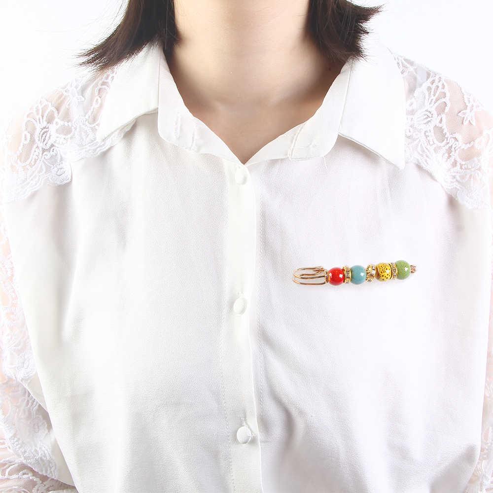 Vestito nuovo Modo di Arrivo Spille Spille Perle di Frutta Risvolto Pendenti e Ciondoli Spilli Classico Rosso Blu di Colore Etnico Spilla Gioielli di Cristallo