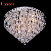 Luxury LED Modern Luster Crystal Chandelier Lights Faixture For Foyer Bedroom Hotel Project Flush Mounted G4 Lamp