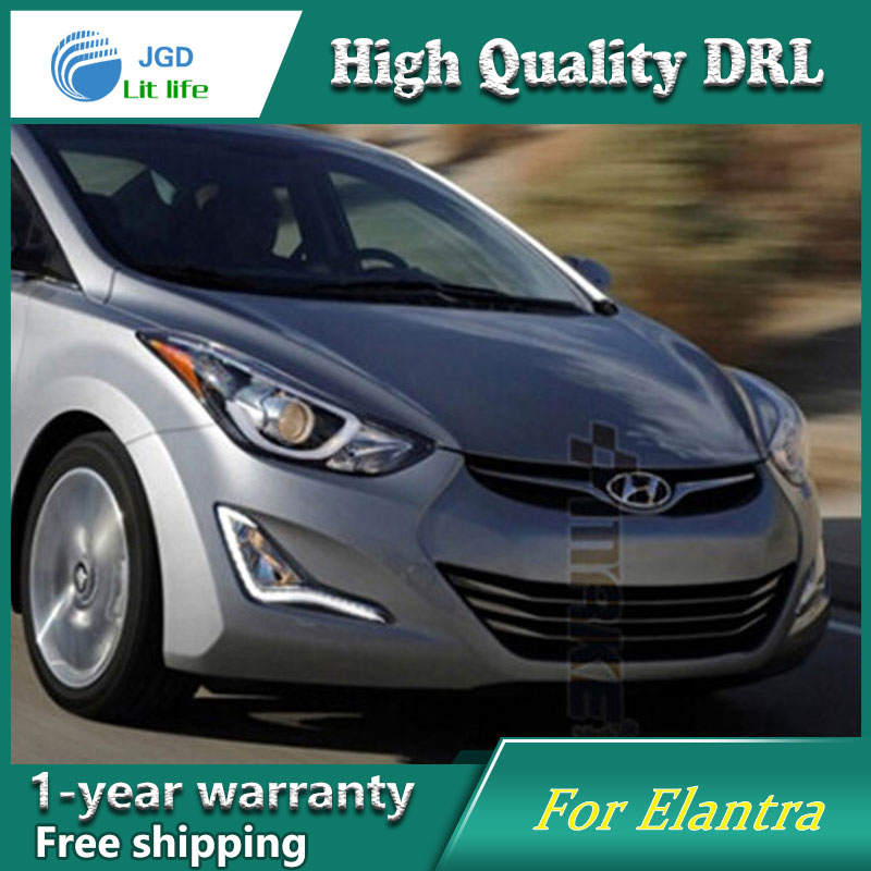 Car Styling LED Daytime Running Light for Hyundai Elantra DRL 2015-2016 Elantra LED DRL Fog Light Cover Front Lamp Auto Parts wljh 2x car led 7 5w 12v 24v cob chip 881 h27 led fog light daytime running lamp drl fog light bulb lamp for kia sorento hyundai