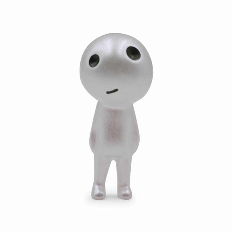 6 pçs princesa mononoke brilho figura de ação brinquedo kodamas luminosa elf árvore bonecas conjunto resina modelo dos desenhos animados estatuetas brinquedos