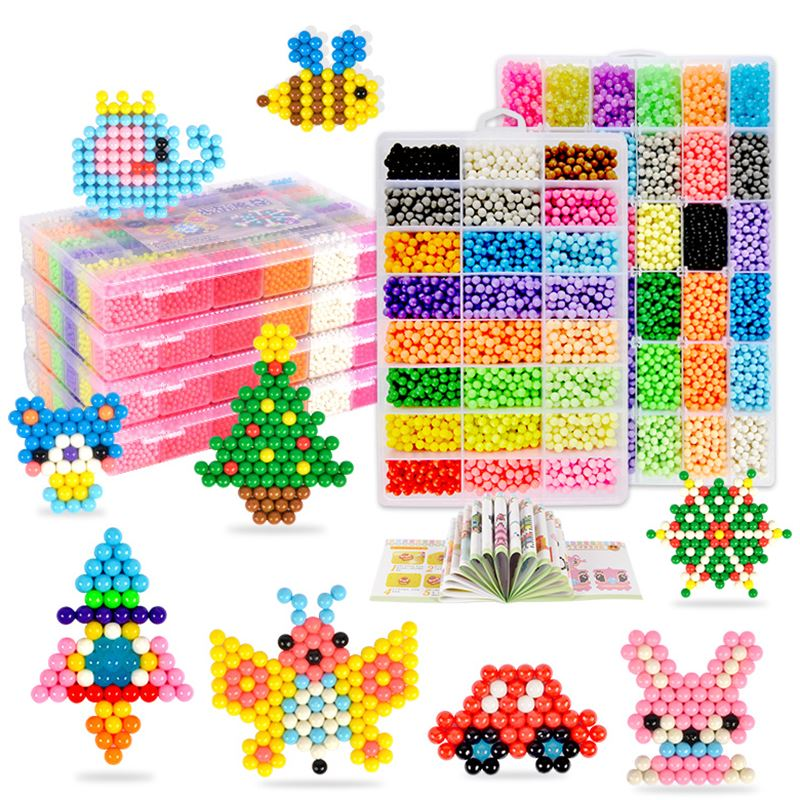 10 Colors Box Set Hama Beads Perler Beads Aquabeads Perlen 3d Puzzle Magic Beads Aqua Beads Puzzles Kids Toys Birthday Gift