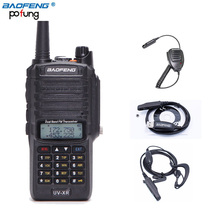 Baofeng UV-XR 10W 4800mAh WaterProof Dual Band Walkie Talkie Two Way Radio+One Programming Cable+One Earpiece+One Speaker Mic