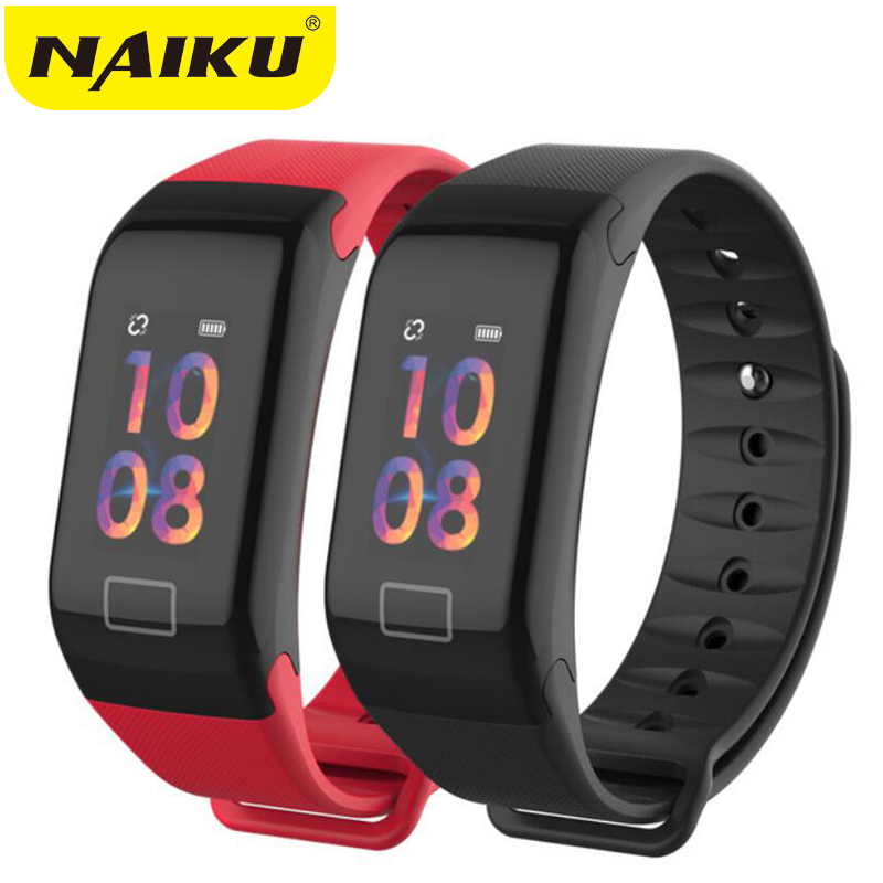 NAIKU F1Plus Smart Bracelet Color Screen Blood Pressure Fitness Tracker Heart Rate Monitor Band Sport for Android IOS