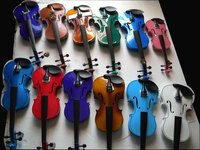 Free Shipping Violin Student violin Solid wood Finished Spruce top maple back Red Black White Blue Green Ect 4/4 1/8