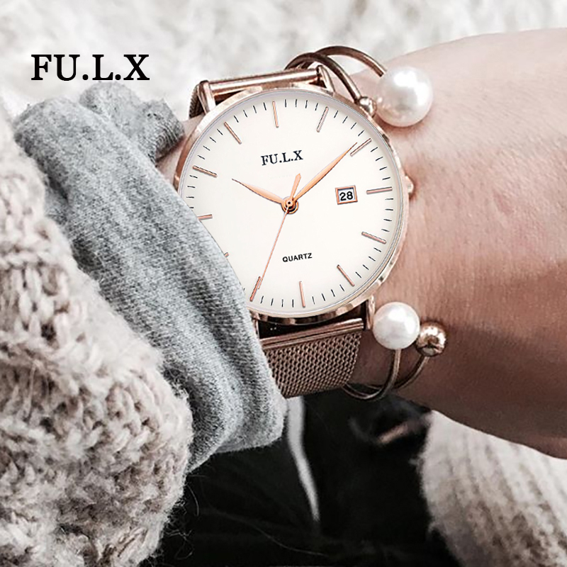 FULX Ladies Wrist Watch Women 2018 Brand Famous Female Clock Quartz Watch Hodinky Quartz-watch Montre Femme Relogio Feminino rigardu fashion female wrist watch lovers gift silicone band creative wristwatch women ladies quartz watch relogio feminino 25