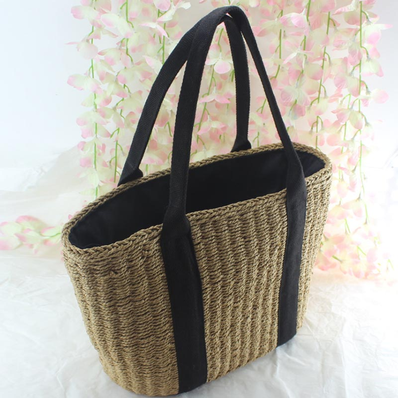 Women's Bags Luggage & Bags Humor Shoulder Bag Women Lady Girl Straw Woven Drawstring Vintage Durable Shoulder Bag For Travel Beach Holiday Ab@w3 Nourishing Blood And Adjusting Spirit