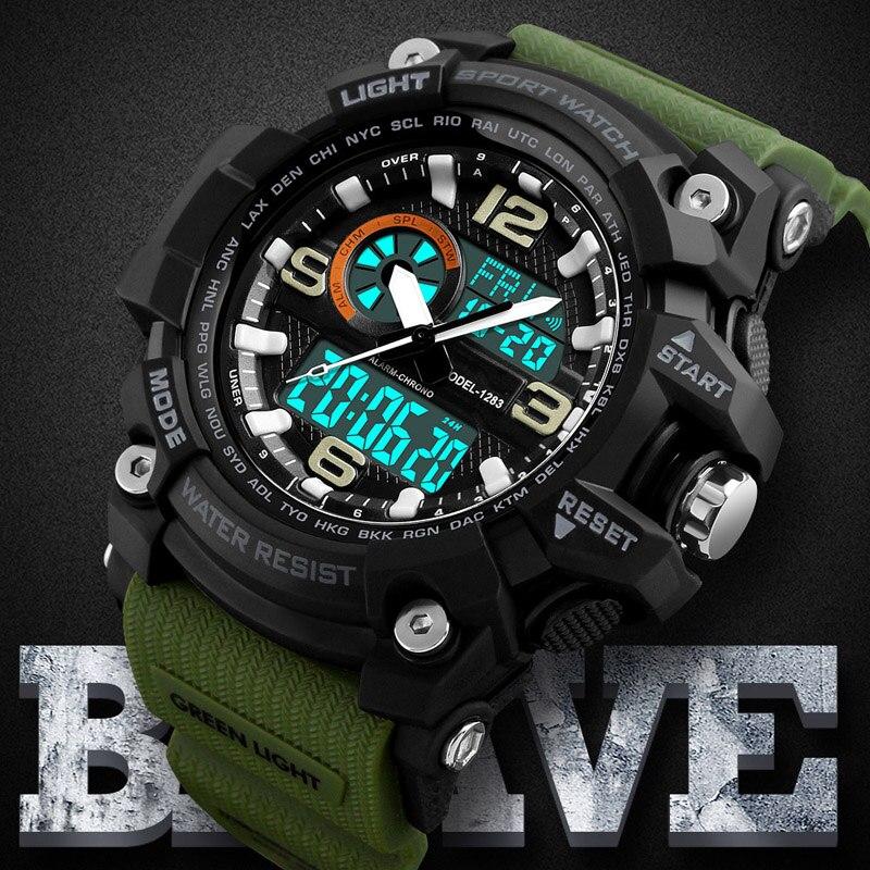 2019 Mode Männer Jungen Multifunktions Military Uhren Datum Alarm Woche Anzeige Quarz Armbanduhren Zurück Licht Wasserdichte Uhr Hell In Farbe