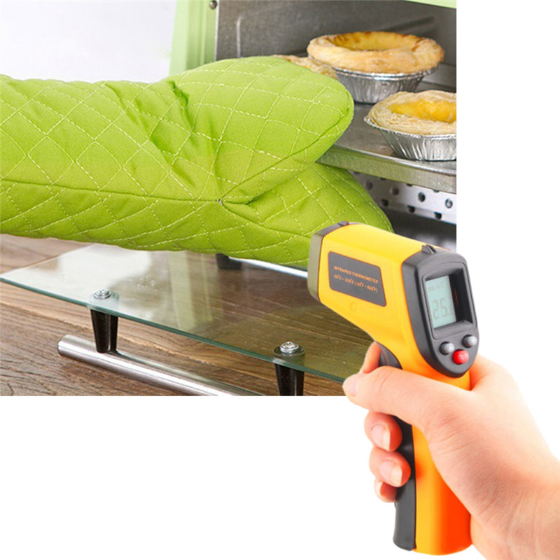 Tragbare termometro digital Non-Kontakt LCD IR Laser Infrarot Digitale Temperatur Thermometer Gun thermometer