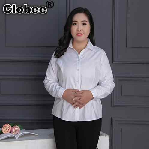 Women Shirt blusas mujer de moda 2018  Office Wear Long-sleeve Blouse Shirt Spring Summer Oversized 9XL White Blusas Tops M275