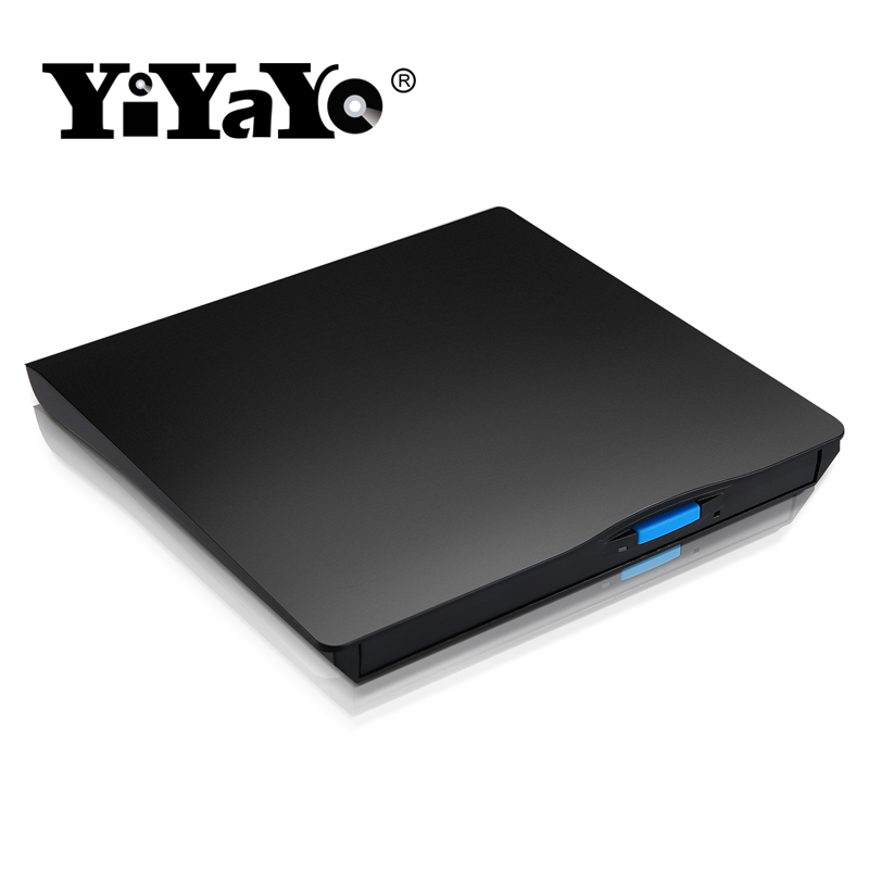 YiYaYo External Slim DVD Drive USB 2.0 DVD/CD-RW Burner CD/DVD ROM Player Portable Recorder Writer Windows 7/8/10 MAC OS linux