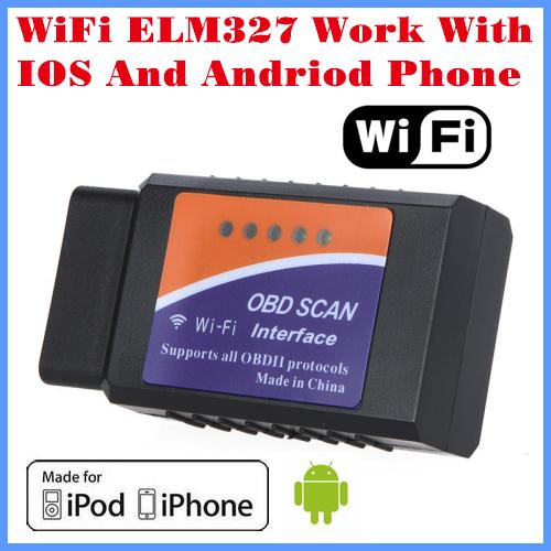 Prix pour [Livraison Gratuite] 2017 Nouvelle Arrivée lecteur de Code Outil De Diagnostic WiFi ELM327 WiFi Travail Avec iPhone et Android OBD-II OBD Peut