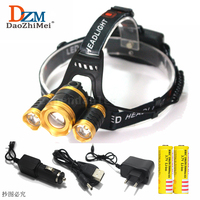 8000 Lumen CREE XM L T6 LED Headlamp Headlight Caming Hunting Head Light Lamp 4 Modes