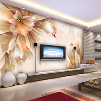 Free Shipping Three Dimensional 3d Personality Tv Background Wall Wallpaper Sofa Background Wallpaper Butterflies
