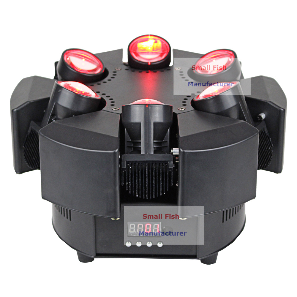 Image 2 - 6X10W RGBW 4IN1 LED Beam Lights 6 Heads Unique Beam Moving Head Strobe Lights DMX 17/38 Channel Professional Dj Bar Party Lights-in Stage Lighting Effect from Lights & Lighting