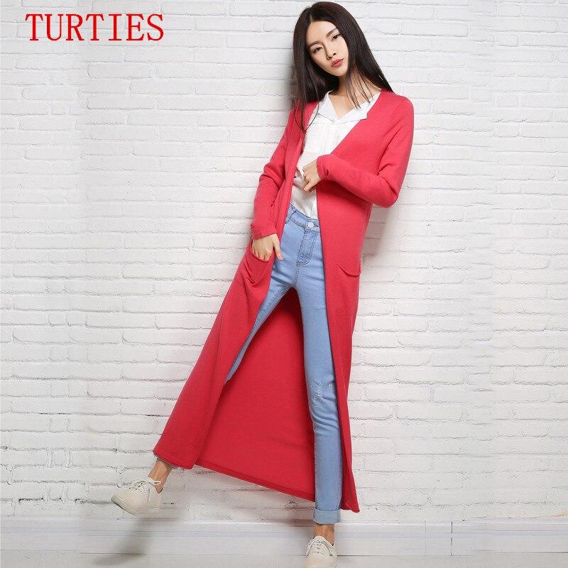 Verano NUEVA mujer Suéter largo Cardigan de Punto CardiganCoat sueltos de color