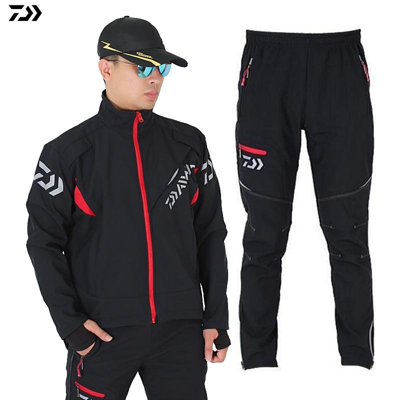 DAIWA Jacket Set For Fishing Windproof Outdoor Climbing Hiking Warm Quick Drying Thermal Camping Pants Fishing