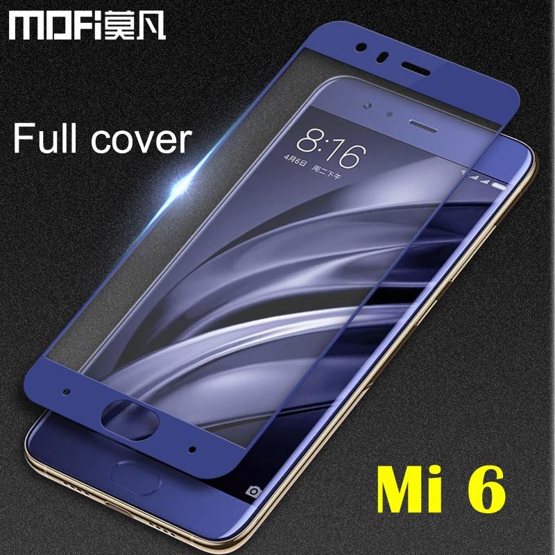 xiaomi mi6 glass tempered MOFi transparent film 5.15 pantalla screen protector mi6 glass cover xiaomi mi 6 screen protector