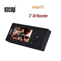 ezcap271 AV Recorder Audio Video Converter Convert VHS / Camcorder tapes to Digital format 3 TFT Screen 8GB Memory For VCR DVD