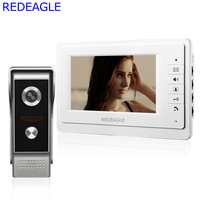 Wired 7 Inch Color Video Door Phone Intercom Kit IR Night Vision Doorbell Call Camera For
