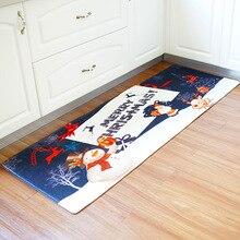Honlaker 60x180CM Christmas Series Kitchen Mats Long Bathroom Rugs Flannel  Dust Anti Slip Door Mat