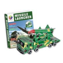Военная ракета автомобиль бумажная модель 3D Трехмерная головоломка креативный DIY сборка и вставка головоломки игрушки для детей