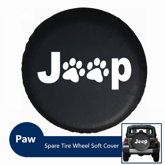 Spare Tire Cover,PVC Leather Waterproof Dust-proof Paws RV Wheel Covers for Jeep...