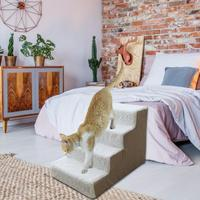 Pet Dog Cat Climbing Ladder Sofa Toy Dog Sponge Step Bed Supplies Foe Small Teddy Sofa Bed Climber Cat Detachable Ladder