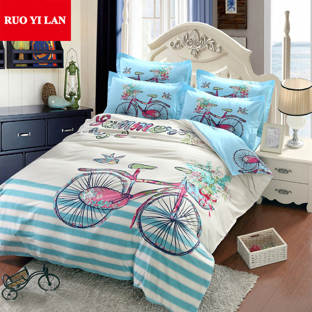 Bicycle Youth 3d Large Printing Duvet Cover Set 100