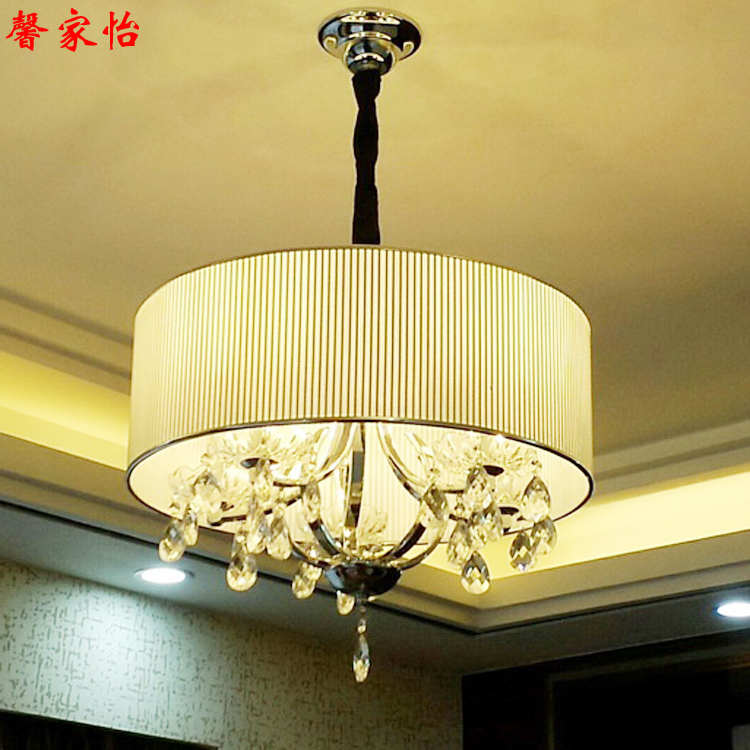 Crystal Bedroom LED crystal pendant light modern minimalist restaurant Jane round warm simple small living room lamps ZH american brief small living room pendant light modern iron glass lamps circle bedroom crystal pendant light