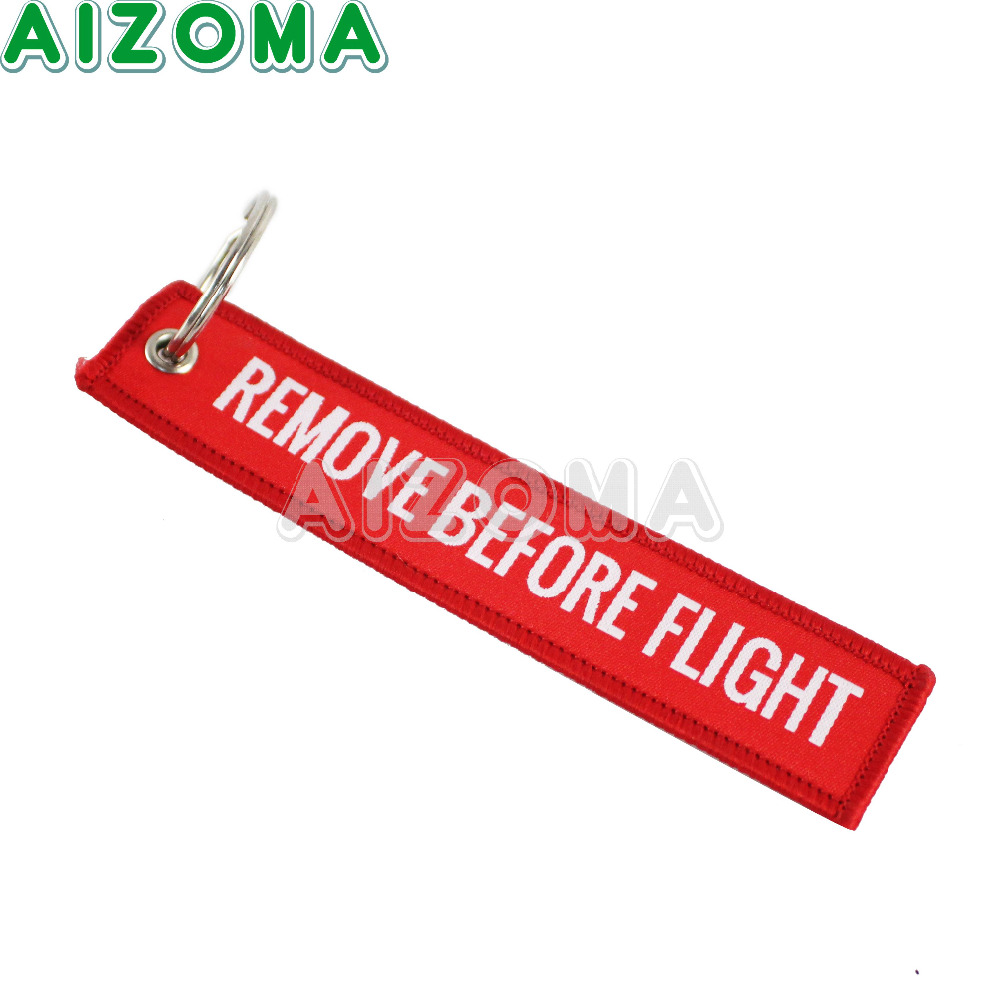 Moto Red Stick Key Chain Remove Before Flight Motorcycle Key Holder Pilot Bag Crew Tag Luggage Keyring For Car Motor Accessories